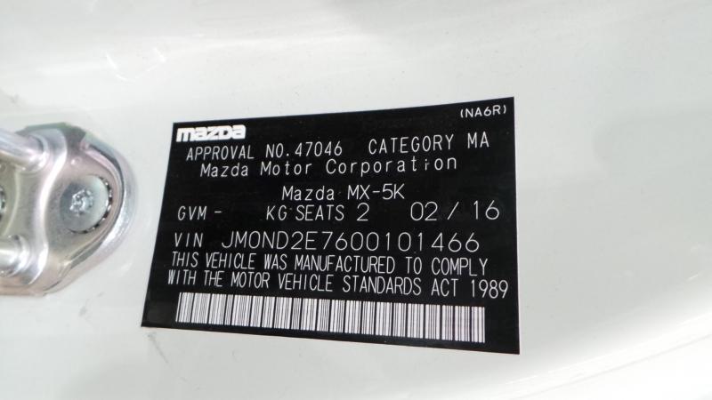 2017 Mazda MX-5 ND Roadster 2dr SKYACTIV-MT 6sp 2.0i